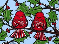 Hawaii artist Heather Brown takes her artwork into the Holiday Season with her most popular bird paintings depicting two red birds enjoying the Christmas cheer! Bird Prints, Artwork Prints, Heather Brown Art, Mat Paper, Eco Friendly Paper, Surf Art, Tropical Flowers, Greeting Cards, Birds