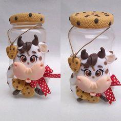 Cow Ornaments, Polymer Clay Ornaments, Handmade Polymer Clay, Christmas Ornaments, Biscuits, Clay Fairy House, Clay Fairies, Clay Art, Decor Crafts