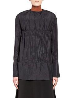 Runway shirt in silk with jewel cuff links