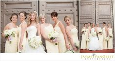 sweetest bridesmaids in soft yellow