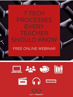 This FREE 25-minute webinar explores seven essential processes you can use to make teaching and learning with technology more robust. #CultofPedagogy Technology Tools, Educational Technology, Cult Of Pedagogy, Tool Board, What You Can Do, Student Learning, Routine, Classroom, Teacher