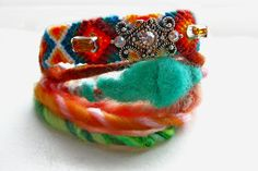 Spring Break  Braided Embellished Friendship Bracelet by Savi, $36.00