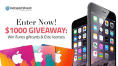 Celebrating the release of the new iPhone 6 and its new iOS app, Hotspot Shield is having a huge $1000 prize giveaway: enter now to become one of the lucky winners. Good luck!