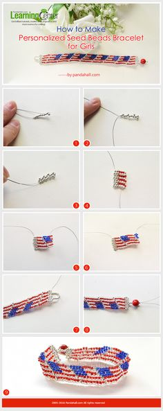 Tutorial on How to Make Personalized Seed Beads Bracelet for Girls from LC.Pandahall.com         #pandahall