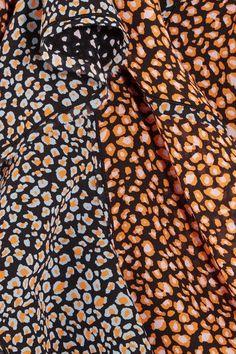 Proenza Schouler - Printed Silk-chiffon Mini Dress - Orange