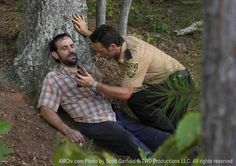 "S1 - Ep 5 ""Wildfire"". Jim is sick as a result of having been bitten. Rick is helping him get as comfortable as possible. Rick & the group have decided to try finding answers/help at  the CDC. They are leaving Jim (near death) behind.  Don't be too sad Rick... you will hear from him again. In fact he calls you on the phone in S3."