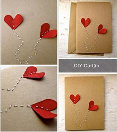 DIY Valentine's Day Cards - Faça-Você-Mesma Cartões para o Dia dos Namorados