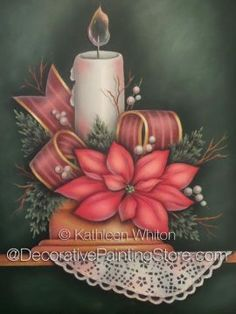 Christmas Candle Pattern - Kathleen Whiton - PDF DOWNLOAD
