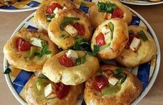 Appetizer Recipes, Appetizers, Greek Pita, Food Gallery, Greek Recipes, Cooking Time, Bagel, Finger Foods, Food Network Recipes