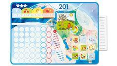 Calendario magnetico del tempo - Centro didattico Materiale prodotti ufficio scuola Giocattoli educativi didattici - BORGIONE.IT