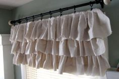 Make your own ruffled curtains from painter's drop cloths :: Hometalk