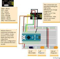 Fritzing Project – Arduino Nano NRF24L01 Receiver