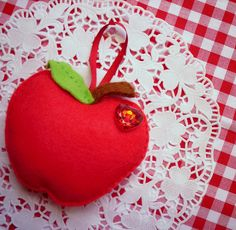 Felt apple decoration