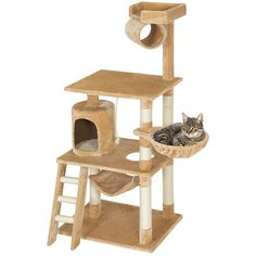 Best Choice Products Pet Play House 60' Cat Tree Scratcher Condo Furniture, Beige >>> Want additional info? Click on the image. (This is an affiliate link and I receive a commission for the sales) #CatLovers