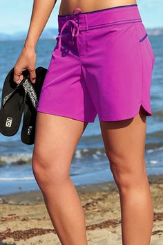 Title Nine: Demands Short - We want coverage that moves with us, land and sea. We want fast-drying fabric that's sturdy and easy to clean. We want boardshort style with a perfect fit