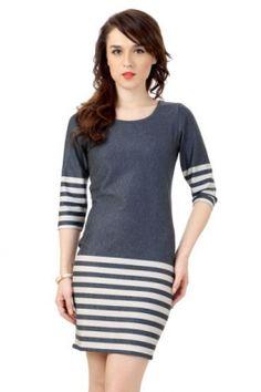 Van Heusen Woman Dress, Round Neck Casual Dress for women at Trendin.com