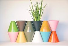 Architectural Pottery, Vessel USA - I love the color combination and stacking of these vessels.