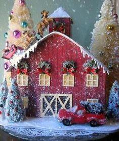 Image result for santas reindeer barn gingerbread house