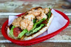 best shrimp po' boy ever from star provisions