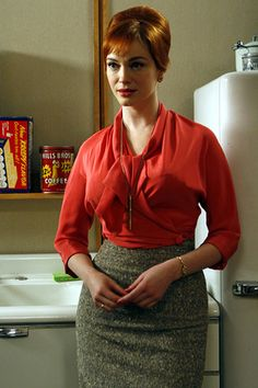 christina hendricks- I love this lady she is one hot mama! From Mad Men show (60's). Classic and modest.