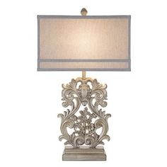Shop for Catalina Vera Rectangular Wood-inspired Ornate Table Lamp. Get free shipping at Overstock.com - Your Online Home Decor Outlet Store! Get 5% in rewards with Club O! - 21321694