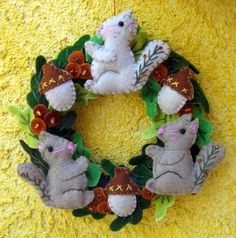Squirrel Wreath - Child Sized