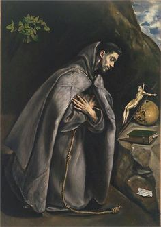 Fan account of El Greco, a painter, sculptor and architect of the Spanish Renaissance. Catholic Art, Catholic Saints, Religious Art, Religious Paintings, Spanish Painters, Spanish Artists, Francis Of Assisi, St Francis, Museum Of Fine Arts