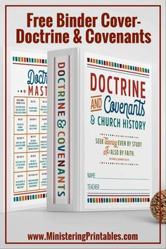 I love and admire seminary teachers. What you guys do is amazing. You sacrifice so much and work so hard for your students. Use these seminary binder covers to help your kids learn the Doctrine and Covenants doctrinal mastery and help their binders stay pretty! #Seminary #FreeSeminaryPrintables #LatterDaySaint #FreeLDSprintables #LDSprintables #Ministering #MinisteringPrintables #BinderCovers Student Learning, Kids Learning, Lds Seminary, Lds Blogs, Reading Charts, Plan Of Salvation, Doctrine And Covenants, Visiting Teaching, Binder Covers