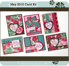 MAY 2015 You Mean the World to Me PremierScrapbookDesigns.com Card Kit…