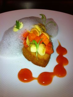 ... Spicy Papaya Coulis • Toasted Marcona Almond • Lime Cilantro Foam
