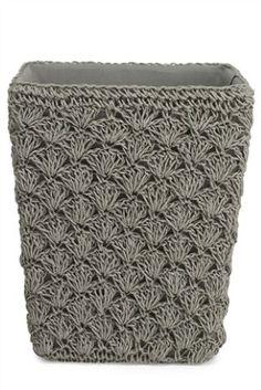 Crochet Paper Weave Laundry Bin from Next.co.uk - £14.00 - Height: 30 cm, Diameter: 25 cm