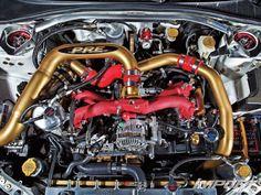Google Image Result for http://image.importtuner.com/f/29753936%2Bw750%2Bst0/impp_1102_02_o%2B2006_subaru_WRX_STI%2Bengine_bay.jpg Wrx Sti, Subaru Impreza, Gears, Motorcycle, Vehicles, Gear Train, Rolling Stock, Cars, Motorbikes