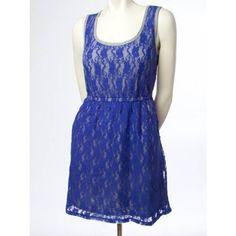 Jersey Lace Pocket Dress - Dresses