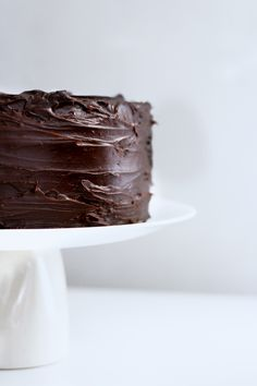 ... 3 layer chocolate cake with chocolate ganache ...