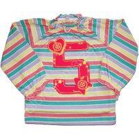 Bluzeczka w paski z cyfrą Śnieżynka MMDadak 68