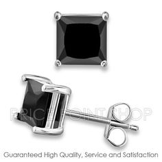 "PricePointShop presents 0.50 ctw Princess Cut  Quality Jet Black Color Solitaire Cubic Zirconia Stud at $4.49.    use Promo code ""8652323125"" And Get 25% Off. http://www.pricepointshop.com/finishing-jewelry-product.asp?idproduct=17276"