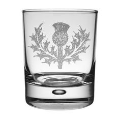 Thistle Whisky Tumbler . . Sold by TartanPlusTweed.com A family owned kilt and gift shop in the Scottish Borders