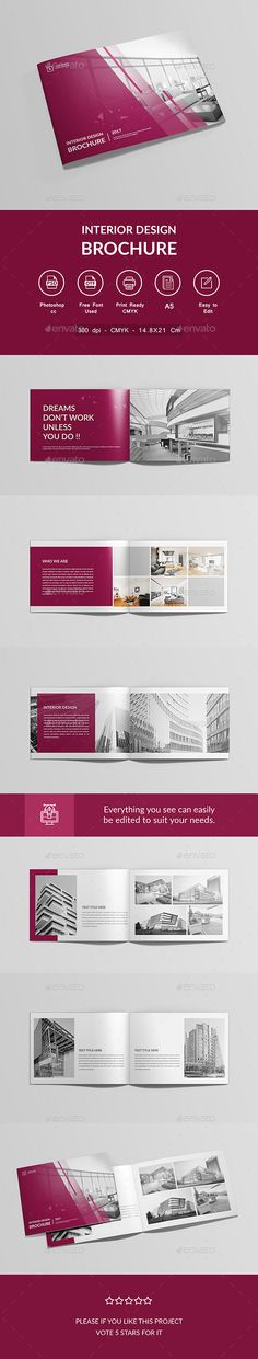 Interior Design Brochure Template PSD Brochure Templates - interior design brochure template