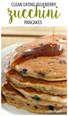 Eating Blueberry Zucchini Pancakes Clean Eating Blueberry Zucchini Pancakes - A healthy clean eating breakfast recipe.Clean Eating Blueberry Zucchini Pancakes - A healthy clean eating breakfast recipe. Clean Eating Breakfast, Healthy Breakfast Recipes, Clean Eating Snacks, Healthy Meals, Healthy Eating, Healthy Recipes, Healthy Food, Clean Eating Pancakes, Healthy Breakfasts