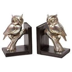Owl Bookends (Set of 2)