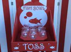 Classic Fish Toss Game! Comes with ivy bowls and ping pong balls.  Fish toss game for your event, home, office or backyard party!!!!!  This is a large game, size is about 2 feet tall and 23in wide and 2 feet deep.  We can have this shipped out to you in 3-5 business days.  It is so much fun for the whole office or school or any event you are planning.  Wording and colors can be changed if you would like at no additional cost.  We can customize all the colors and name of game at no additional…