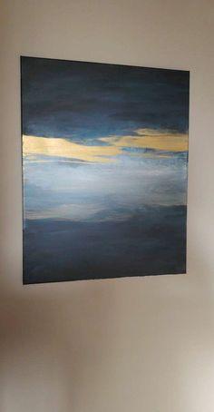 art diy 55 Easy DIY Canvas Painting Ideas to Decorate Your Home Abstract Canvas Art, Diy Canvas Art, Canvas Wall Art, Acrylic Canvas, Abstract Painting Easy, Painted Canvas, Modern Canvas Art, Blue Painting, Diy Painting
