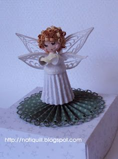 Quilled angel - by: natiquill - Brazil