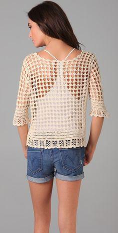 Crochetemoda Blog: Blusa Crochet Nude