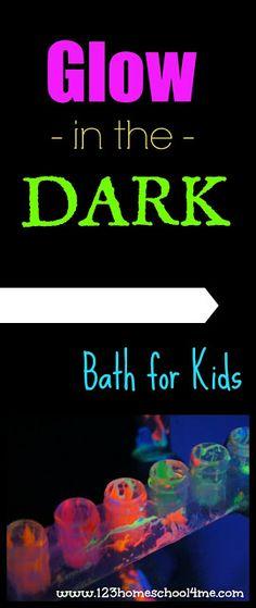 Glow in the Dark Bath for Kids