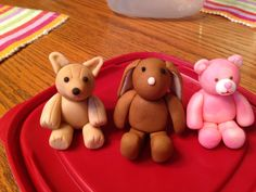 Build a bear characters to surround cake or as cake toppers