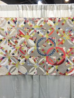 Live a Colorful Life: QuiltCon West Part The Quilts Blue Wedding Rings, Double Wedding Rings, Circle Quilts, Quilt Blocks, Quilting Projects, Quilting Designs, Quilting Ideas, Wedding Ring Quilt, Wedding Quilts