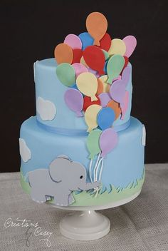 Elephant Baby Shower Ideas | elephant cake | Baby Shower Ideas