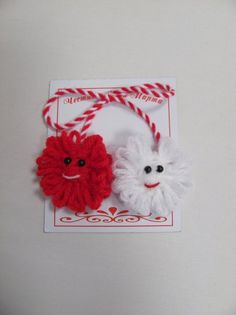 MARTENITSA Doll Crafts, Baby Crafts, Diy And Crafts, Paper Crafts, Ornament Crafts, Xmas Crafts, Crochet Projects, Craft Projects, Polymer Clay Embroidery