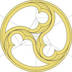 Sacred Geometry Triskele for gothic church windows ORIGINAL LINK: en. Geometry Art, Sacred Geometry, Geometric Designs, Geometric Shapes, Geometric Patterns, Church Windows, Gothic Windows, Architectural Elements, Islamic Art